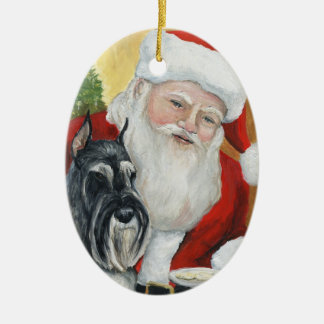Standard Schnauzer Dog Art Christmas Ornament