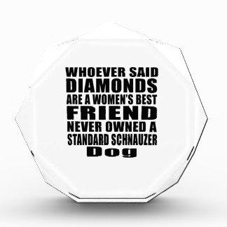 STANDARD SCHNAUZER DOG BEST FRIEND DESIGNS ACRYLIC AWARD