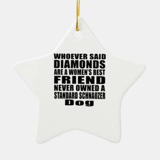 STANDARD SCHNAUZER DOG BEST FRIEND DESIGNS CERAMIC ORNAMENT