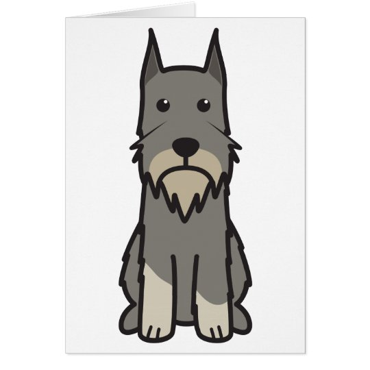 Standard Schnauzer Dog Cartoon Card