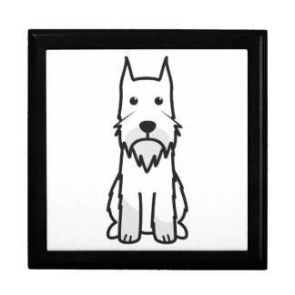 Standard Schnauzer Dog Cartoon Jewelry Boxes