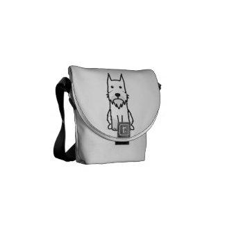 Standard Schnauzer Dog Cartoon Messenger Bag