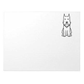 Standard Schnauzer Dog Cartoon Memo Notepad