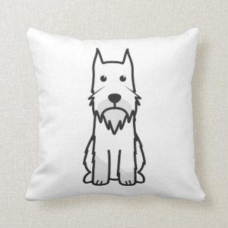 Standard Schnauzer Dog Cartoon Pillows