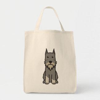 Standard Schnauzer Dog Cartoon Tote Bag