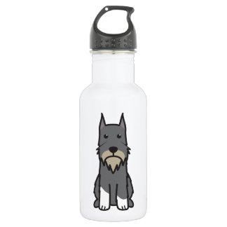 Standard Schnauzer Dog Cartoon Water Bottle