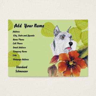 Standard Schnauzer ~ Green Leaves Design Business Card