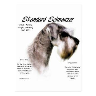 Standard Schnauzer History Design Post Cards