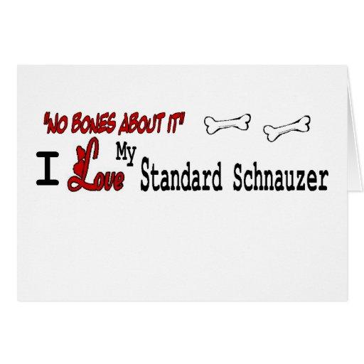 Standard Schnauzer (I Love) Greeting Card