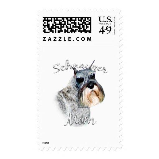 Standard Schnauzer Mom 2 Stamps