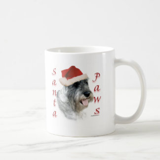 Standard Schnauzer Santa Paws Classic White Coffee Mug