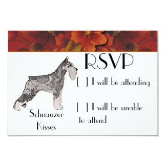"""Standard Schnauzer - Schnauzer Kisses 3.5"""" X 5"""" Invitation Card"""