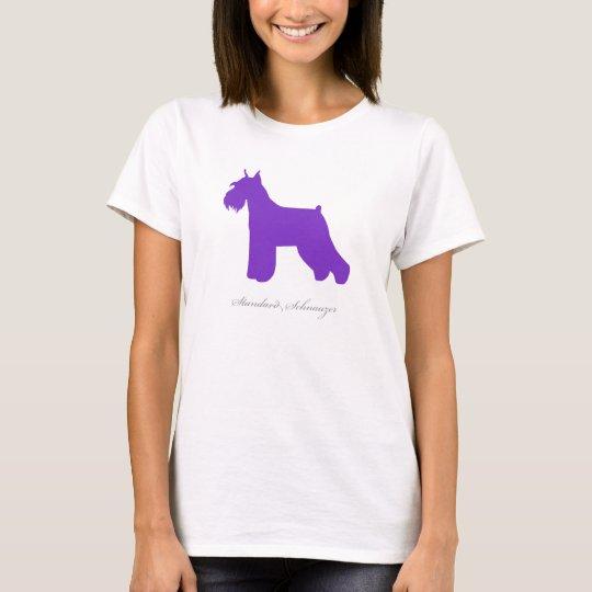 Standard Schnauzer T-shirt (purple docked)
