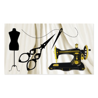 Standard Size Sewing / Fashion / Seamstress Business Card