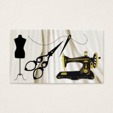 Standard Size Sewing / Fashion / Seamstress Business Card at Zazzle