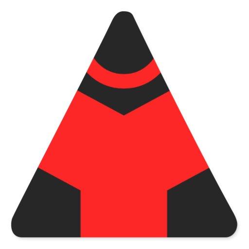 standard technological logo red triangle sticker zazzle