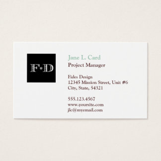 Standard thumbnail logo simply chic white brown business card
