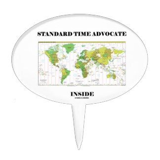 Standard Time Advocate Inside (Time Zones) Cake Pick