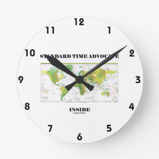 Standard Time Advocate Inside (Time Zones) Clock