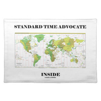 Standard Time Advocate Inside (Time Zones) Cloth Placemat