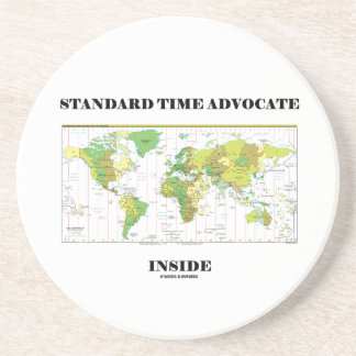 Standard Time Advocate Inside (Time Zones) Drink Coaster
