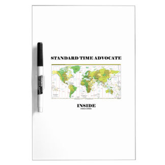 Standard Time Advocate Inside (Time Zones) Dry Erase White Board