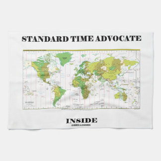 Standard Time Advocate Inside (Time Zones) Hand Towels