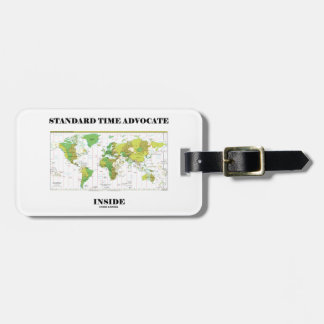 Standard Time Advocate Inside (Time Zones) Luggage Tag