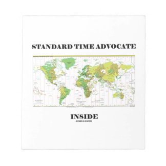 Standard Time Advocate Inside (Time Zones) Notepad