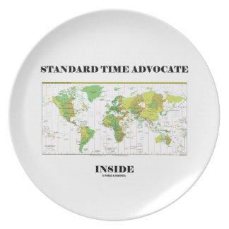 Standard Time Advocate Inside (Time Zones) Plate