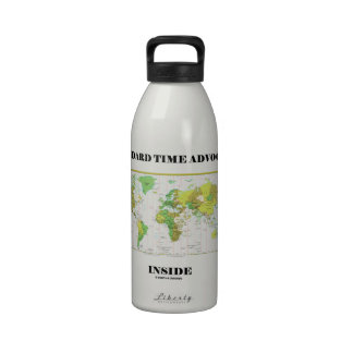 Standard Time Advocate Inside (Time Zones) Water Bottle