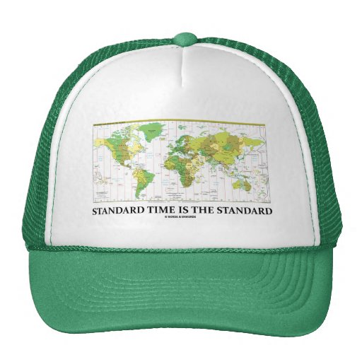Standard Time Is The Standard (Time Zone Map) Hats