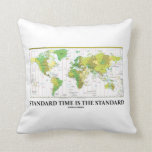 Standard Time Is The Standard (Time Zones Map) Throw Pillow