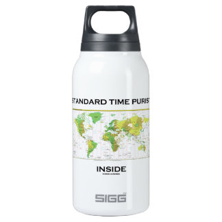 Standard Time Purist Inside (Time Zones World Map) 10 Oz Insulated SIGG Thermos Water Bottle