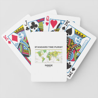 Standard Time Purist Inside (Time Zones World Map) Bicycle Playing Cards