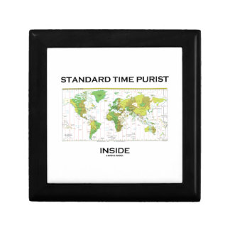 Standard Time Purist Inside (Time Zones World Map) Jewelry Boxes