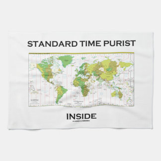 Standard Time Purist Inside (Time Zones World Map) Hand Towel