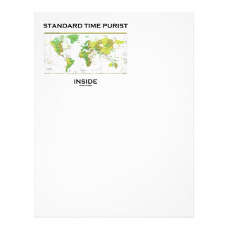 Standard Time Purist Inside (Time Zones World Map) Personalized Letterhead