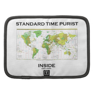 Standard Time Purist Inside (Time Zones World Map) Planners