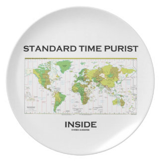 Standard Time Purist Inside (Time Zones World Map) Plate
