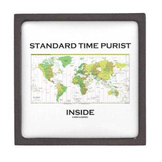 Standard Time Purist Inside (Time Zones World Map) Premium Jewelry Box