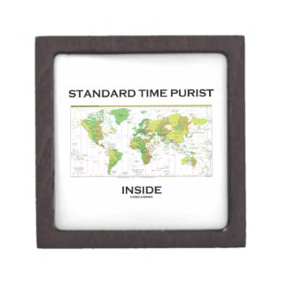 Standard Time Purist Inside (Time Zones World Map) Premium Jewelry Boxes