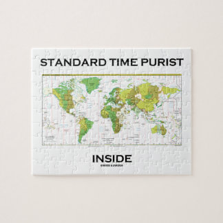 Standard Time Purist Inside (Time Zones World Map) Puzzle