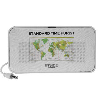 Standard Time Purist Inside (Time Zones World Map) Notebook Speaker