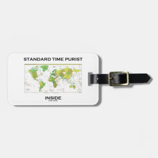 Standard Time Purist Inside (Time Zones World Map) Travel Bag Tags