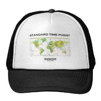 Standard Time Purist Inside (Time Zones World Map) Trucker Hat