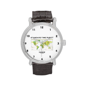 Standard Time Purist Inside (Time Zones World Map) Wrist Watch