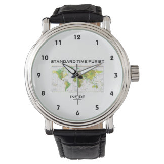 Standard Time Purist Inside (Time Zones World Map) Wrist Watch