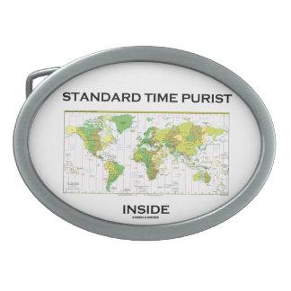 Standard Time Purist Inside (World Map) Oval Belt Buckles