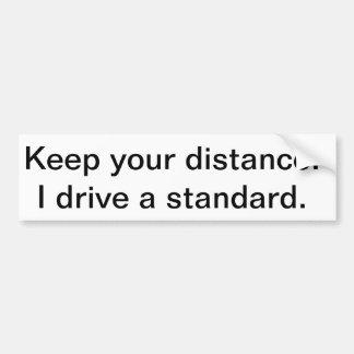 Standard Transmission bumper sticker